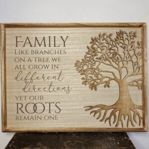 Tree Of Life Plaque Family Like Branches