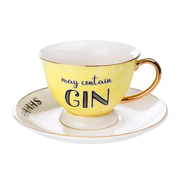 Sass & Belle May Contain Gin Cup & Saucer Set