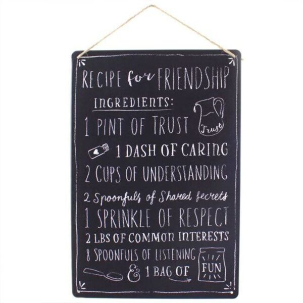 Medium Metal Recipe For Friendship Plaque