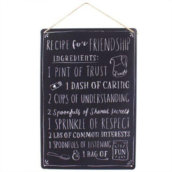 Medium Metal Recipe For Friendship Plaque