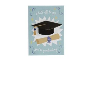 Special Card With Wooden Hanger Hats Off To You - You're Graduating