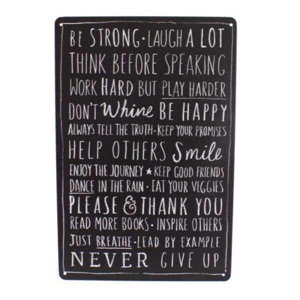 Medium Metal Sentiment Wall Plaque Be Strong