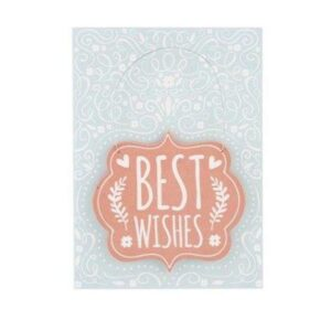 Special Card With Wooden Hanger Best Wishes