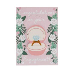 Special Card With Wooden Hanger Congratulations On Your Engagement