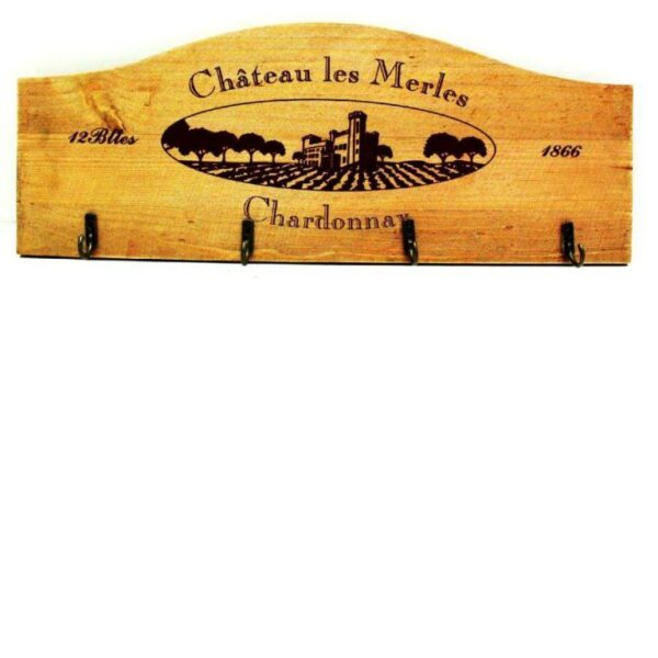Wine Inspired Design Wooden Key rack