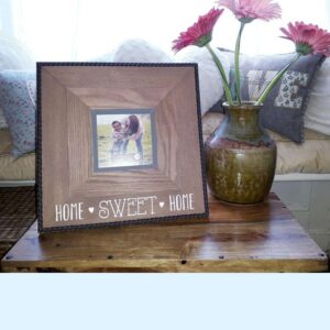 Home Sweet Home Shabby Chic Wooden Brown Picture Frame