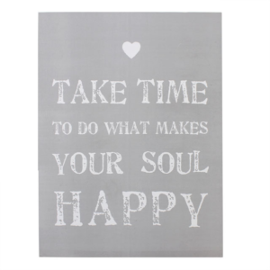 Take Time Grey Large Wooden Sign