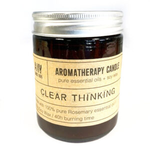 Soy Wax Natural Aromatherapy Candle - Clear Thinking Rosemary