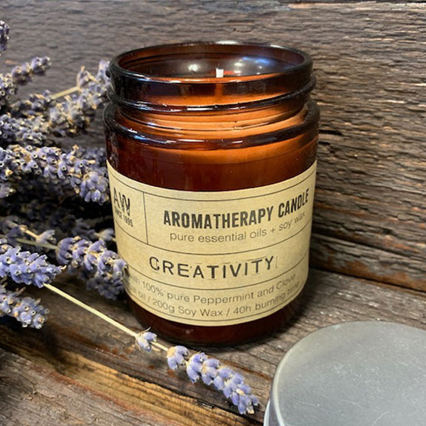Soy Wax Natural Aromatherapy Candle - Creativity Peppermint & Clove