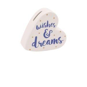 Wishes & Dreams Heart Money Box