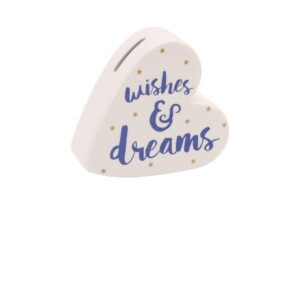 Wishes & Dreams Heart Money Box