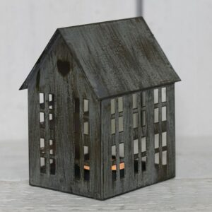 Metal Grey Candle House