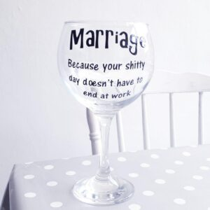 Bespoke Gin Glass Marriage
