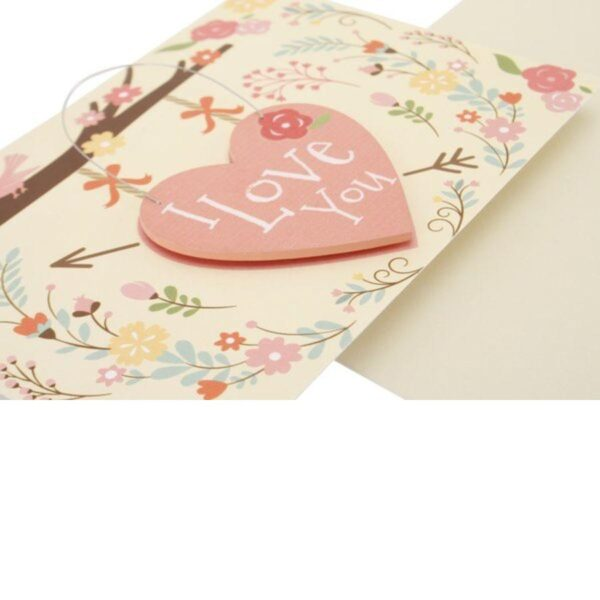 Special Card With Wooden Hanger I Love You