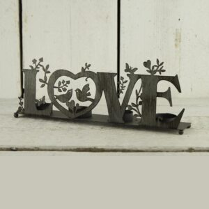 Metal Love Candle Holder