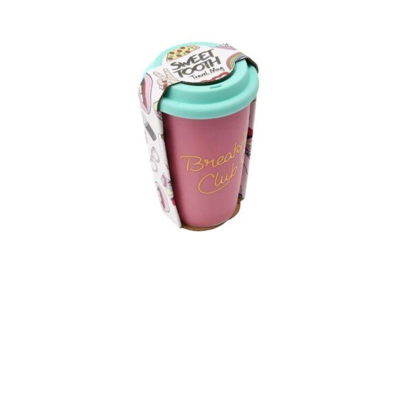 Sweet Tooth Breakfast Club Ceramic Coffee Tea Cup Travel Mug