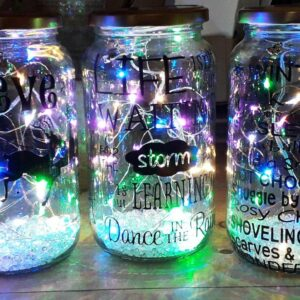 Bespoke Light Up Jars With Quotes
