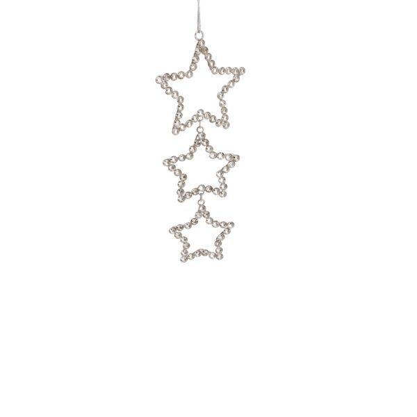 Triple Sparkle Crystal Star String Hanger