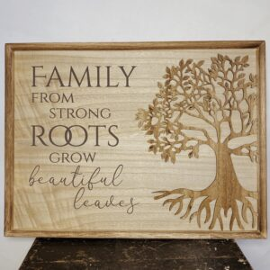 Tree Of Life Plaque Family From Strong Roots