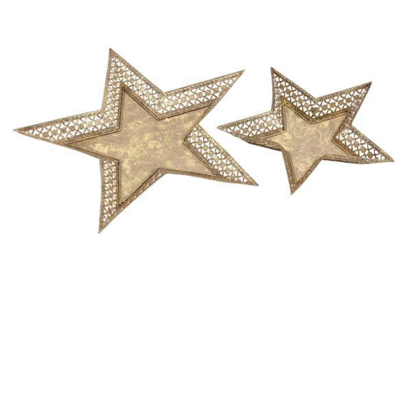 Gold Star Plates Candle Holders