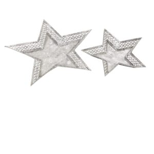 Silver Star Plates Candle Holders