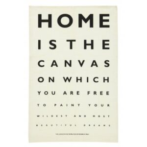 Home Eye Test Tea Towel Ulster Weavers by Roderick Field