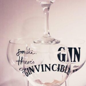 Bespoke Slogan Gin Glasses