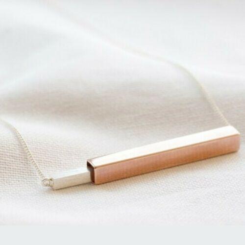 Lisa Angel Silver & Rose Gold Brushed Pendant