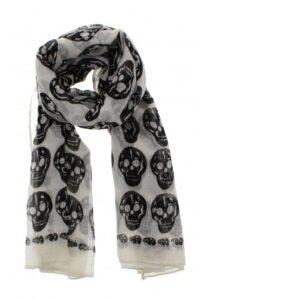 white skull scarf