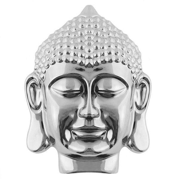 Silver Thai Buddha Head Wall Plaque