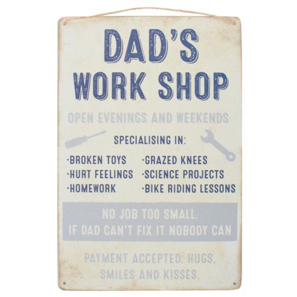 dads workship sign