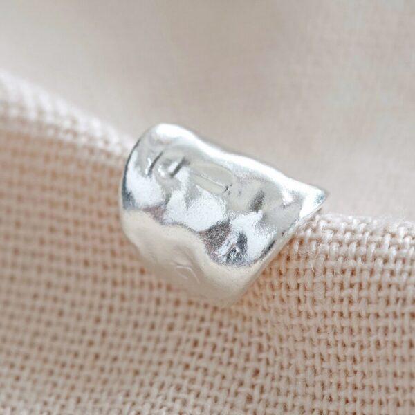 wide ear cuff sterling silver