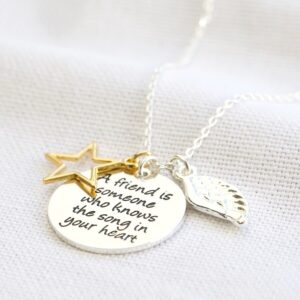 A Friend Is Someone Necklace