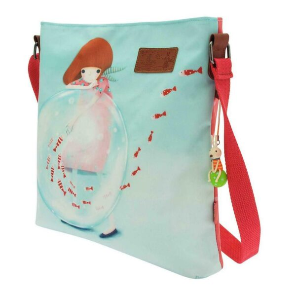 Little Fishes or Melon Showers Coated Cross Body Bags