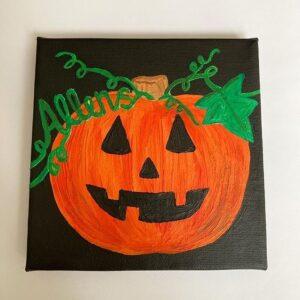 Halloween theme canvas