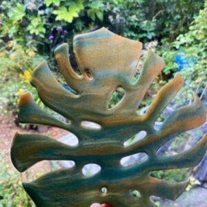 resin monstera leaves