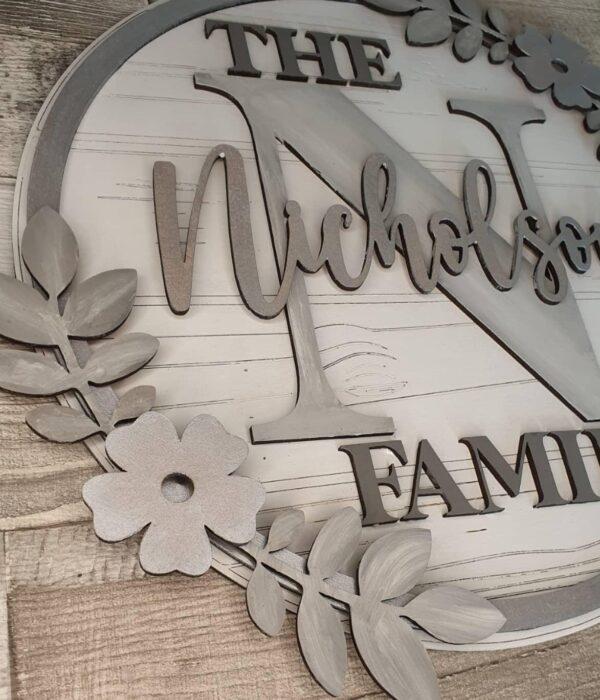 handmade family plaque