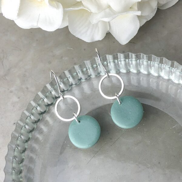 sage green earrings