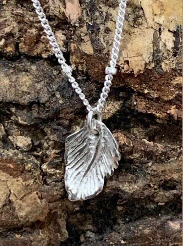silver leaf pendant