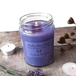 Truth & Wisdom Candle – Black Amber & Lavender Scented