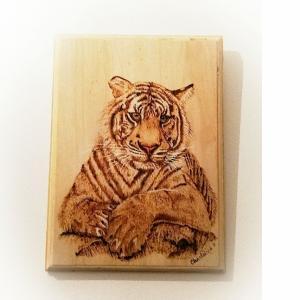 pyrography tiger